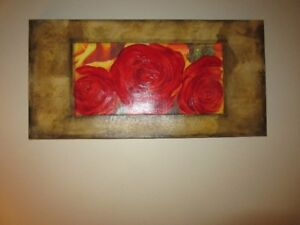 Kate Michaels Oil On Canvas Of Roses Ltd Edition Reproduction