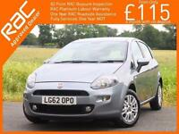 2012 Fiat Punto 1.2 Easy 5 Door 5 Speed Bluetooth Climate Control Parking Sensor