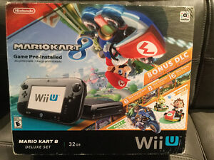 Mario Cart 8- black 32gb Nintendo Wii U fit and meter