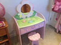 Girls Fairy Dressing Table / Mirror / Drawer and Stool