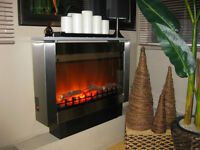 ELECTRIC FIREPLACE STYLISH STAINLESS STEEL – ONE SEASON
