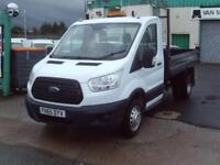 Ford Transit T350 Single Cab Tipper 125ps New Shape DIESEL MANUAL WHITE (2015)