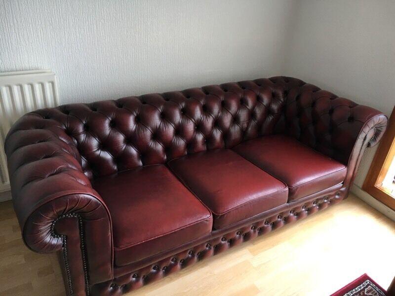 Wondrous Oxblood Chesterfield Sofa In Dunfermline Fife Gumtree Inzonedesignstudio Interior Chair Design Inzonedesignstudiocom