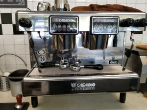 Casadio Dieci 2 Group Commercial Espresso Machine + Grinder