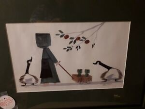 Diane Graebner signed and numbered Amish art