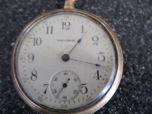 "A 2"" diameter Waltham pocketwatch with ceramic face and works v Gatineau Ottawa / Gatineau Area image 5"