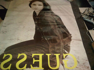 Large Rare Bus Stop Posters Guess Roots Calvin Klein Fashion