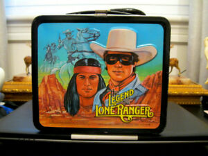 The Legend of the Lone Ranger tin lunch box Vintage rare