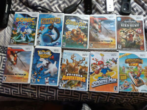 WII 17 games and wireless sensor-hdmi cord