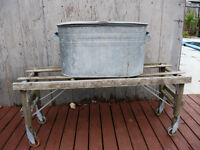 Wash Tub and bench