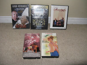 Dvd and VHS Lot of 5