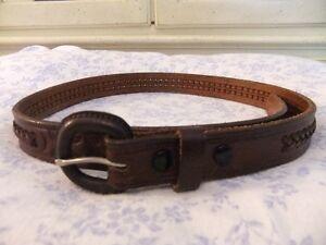 "New Mens Leather Belt 32"""