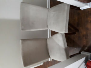 Pair of dining room chairs for sale.