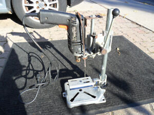 Portable drill press woodworking or hobby