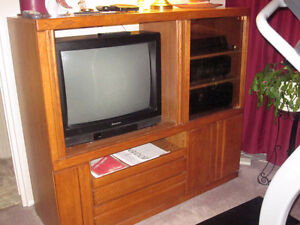 "Entertainment centre with free 25"" TV"