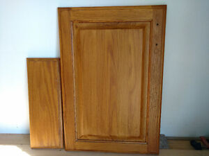 Solid oak doors and drawer fronts