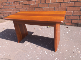 Hand made Teak and Oroko side table