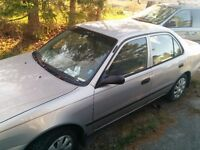 2001 Toyota Corolla - low rust but been sitting - need gone!