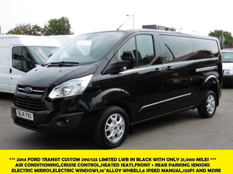2014 ford transit custom 290 125 limited lwb in black with. Black Bedroom Furniture Sets. Home Design Ideas