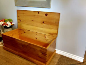 Large pine chest