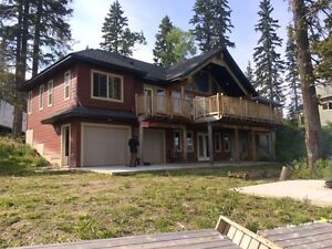 Lakefront house on 1.02 acres .