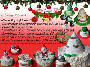 Character cakes, Caribbean Rum cakes and more!