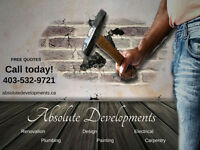 Package deals! Set price! Contact absolute developments today!