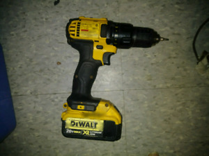 20v DeWalt drill with high capacity batt and charger