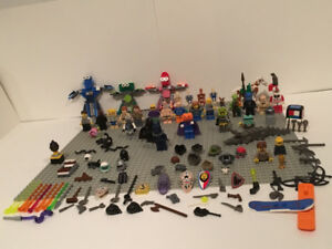 Lego Figurines Gros Lot Star Wars Batman Scooby Doo  Armes