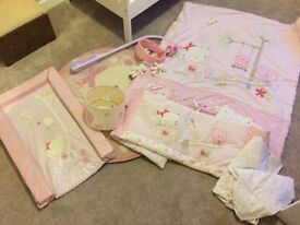 Next Chloe Cat Girls Nursery bedding and accessories