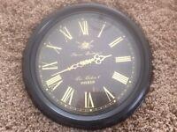 Beautiful Giant black metal clock