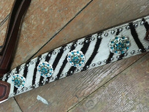 Bling zebra teal breast collar London Ontario image 2