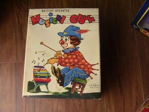 Vintage new in box, battery operated Musical Clown w' Xylophone