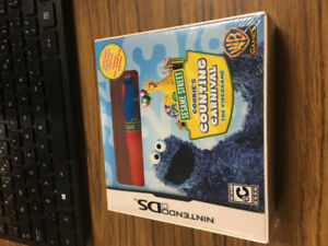 nintendo ds cookie monsters counting carnival sesame street NEW