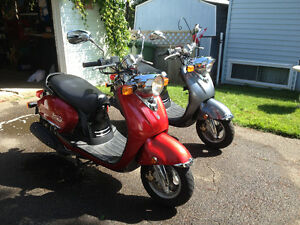Two Yamaha Vino 125's for sale . Price Reduced