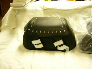 YAMAHA STUDDED LEATHER SADDLEBAGS. NEW V STARS/ROAD STAR other