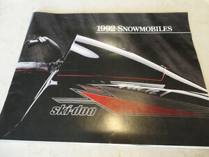 Vintage 1992 Ski-Doo Snowmobile Sales Brochure -The whole lineup
