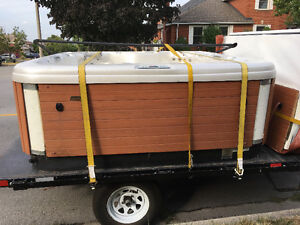 Hot tub moving & disposal new & used call the pros