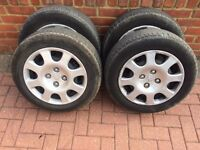 Peugeot steel rims and tyres
