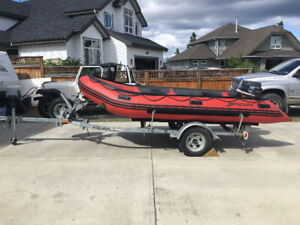 14 Foot Mercury Inflatable with Motor/Trailer