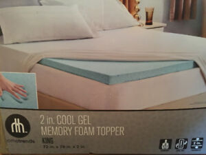 Surmatelas avec gel King size, Mattress Memory foam King Size