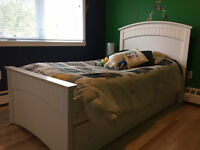 Twin Bed, Trundle and Two Mattresses