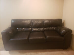 Leather Couch black  $100 obo