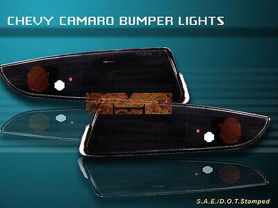 93-02 CHEVY CAMARO BUMPER LIGHTS JDM BLACK 2001 1999
