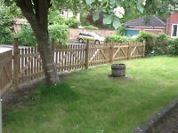 Picket fence panels and gates