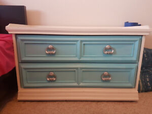 Repainted two drawer dresser