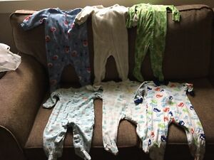 Boys 9 month and 6-12 month sleepers pyjamas
