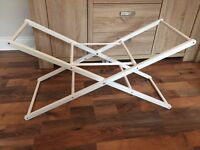 White Moses basket stand