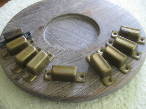 NINE RARE OLD-FASHIONED VINTAGE WINDOW-LOCK HARDWARE