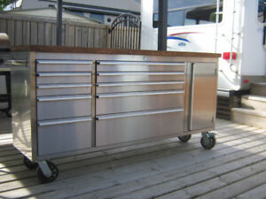 Stainless Steel storage/tool box/prep centre